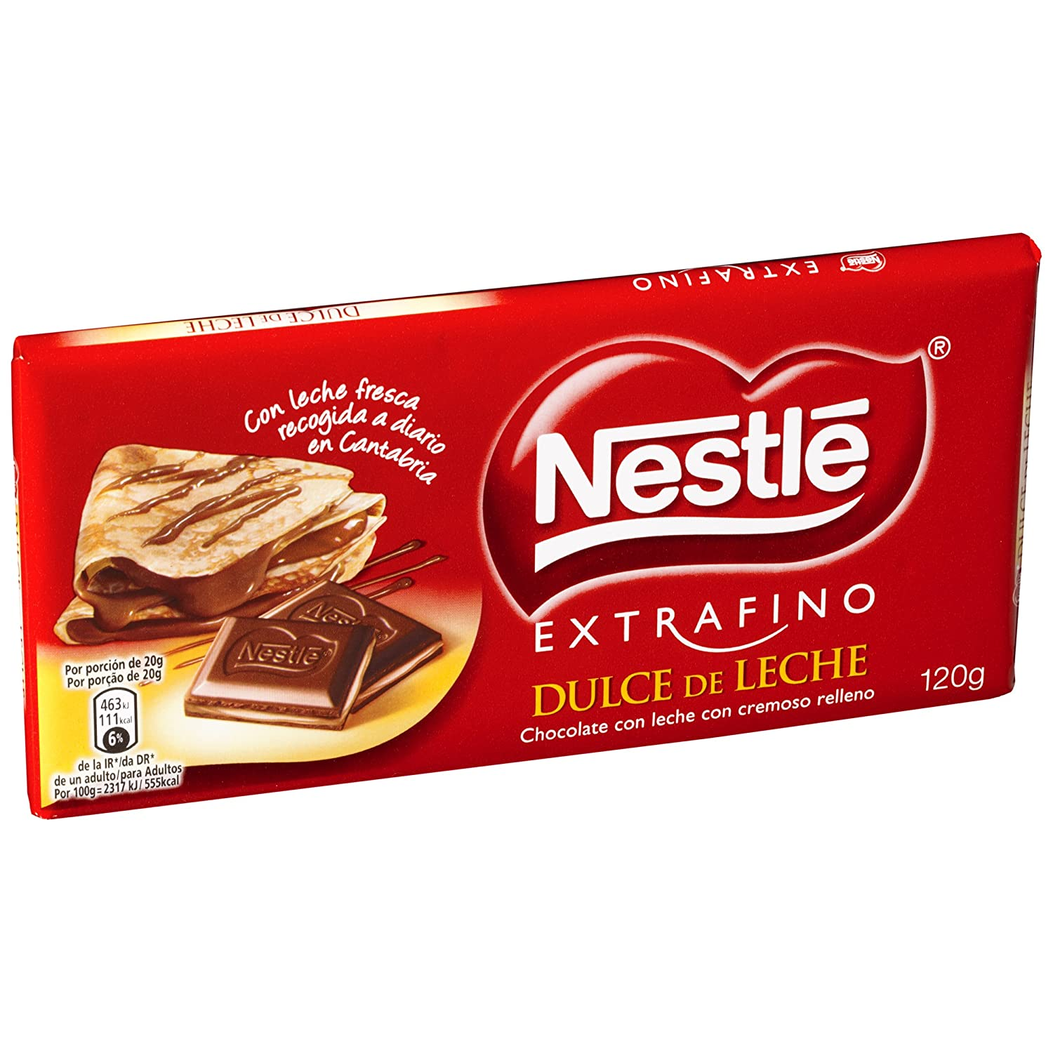 NESTLÉ EXTRAFINO Dulce de Leche - Tableta de Chocolate 120g: Amazon.es: Amazon Pantry