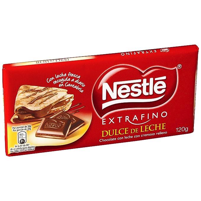 Nestlé Extrafino - Tableta de Chocolate con Leche Relleno de Dulce de Leche - 5 Paquetes