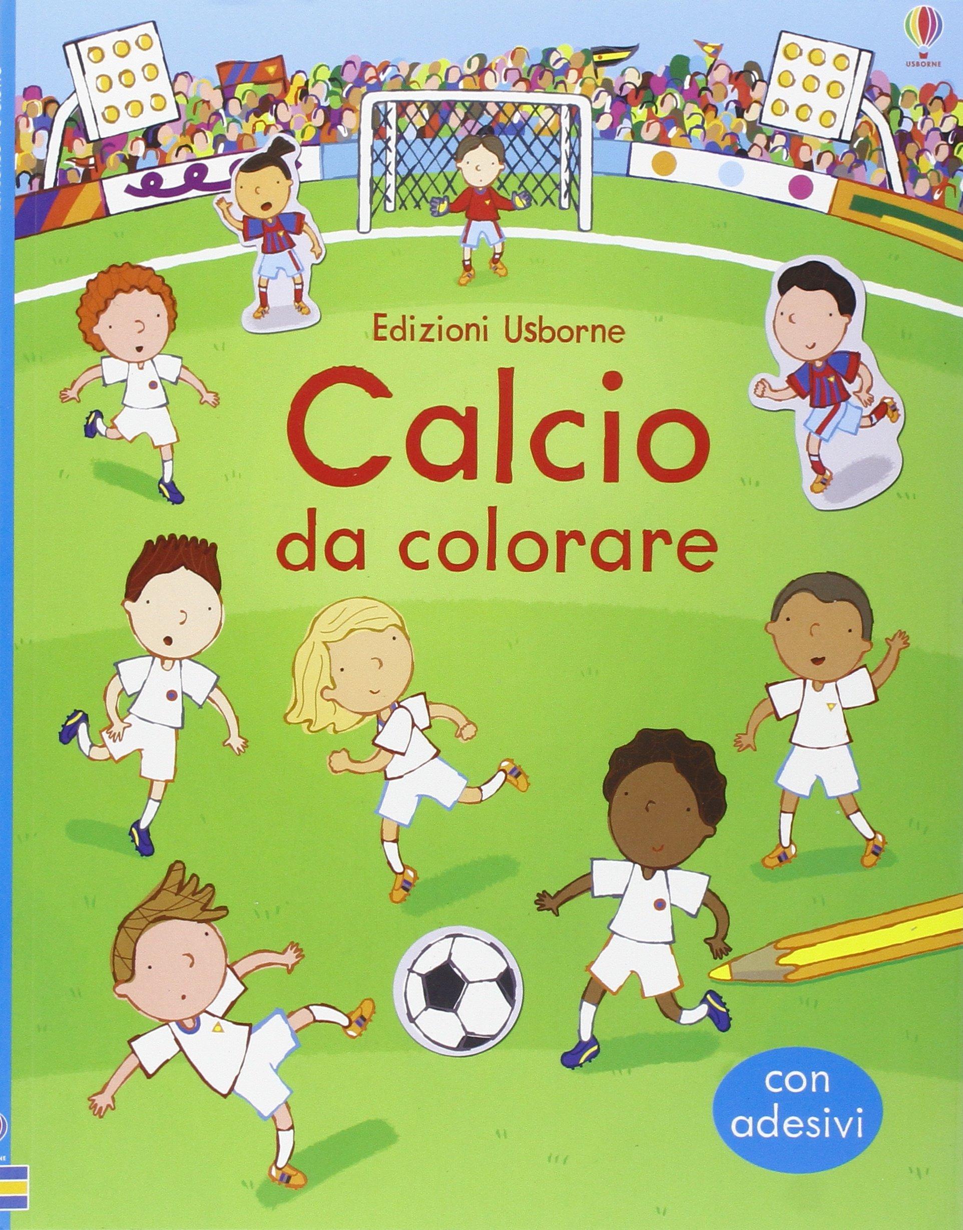 Calcio Da Colorare Con Adesivi Ediz Illustrata Amazon It Sam