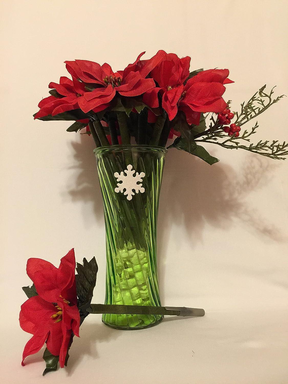 Amazon beautiful holiday red poinsettia bouquet flower pens amazon beautiful holiday red poinsettia bouquet flower pens handmade izmirmasajfo
