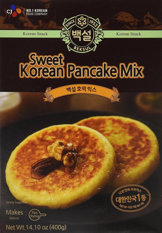 Korean Sweet Pancake Mix, Hotteok (14.10 oz) By Beksul (Original, 1 Pack)