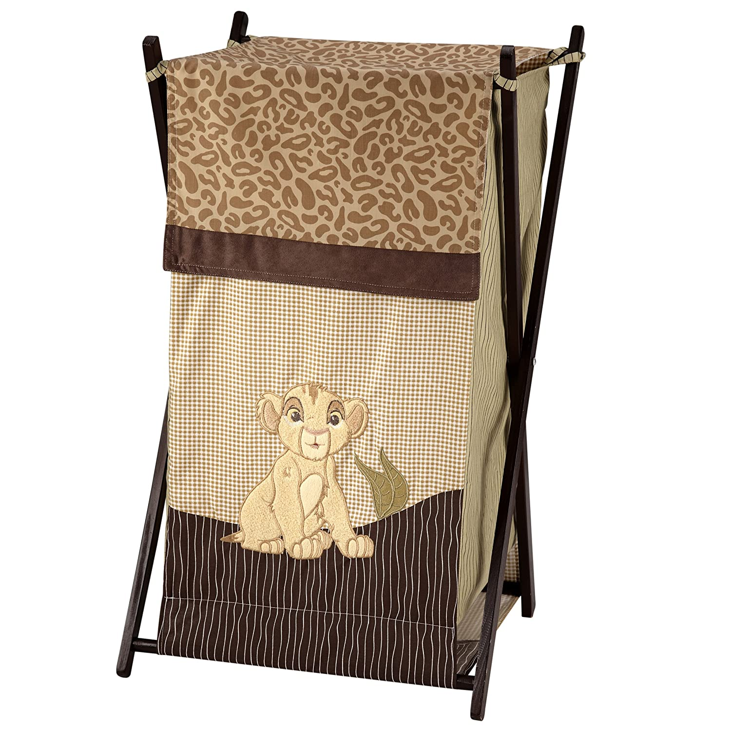 Disney Lion King Simba's Wild Adventure Appliqued Folding Hamper with Mesh Bag, Brown, Orange, Sage, Ivory Crown Crafts Inc 6804028