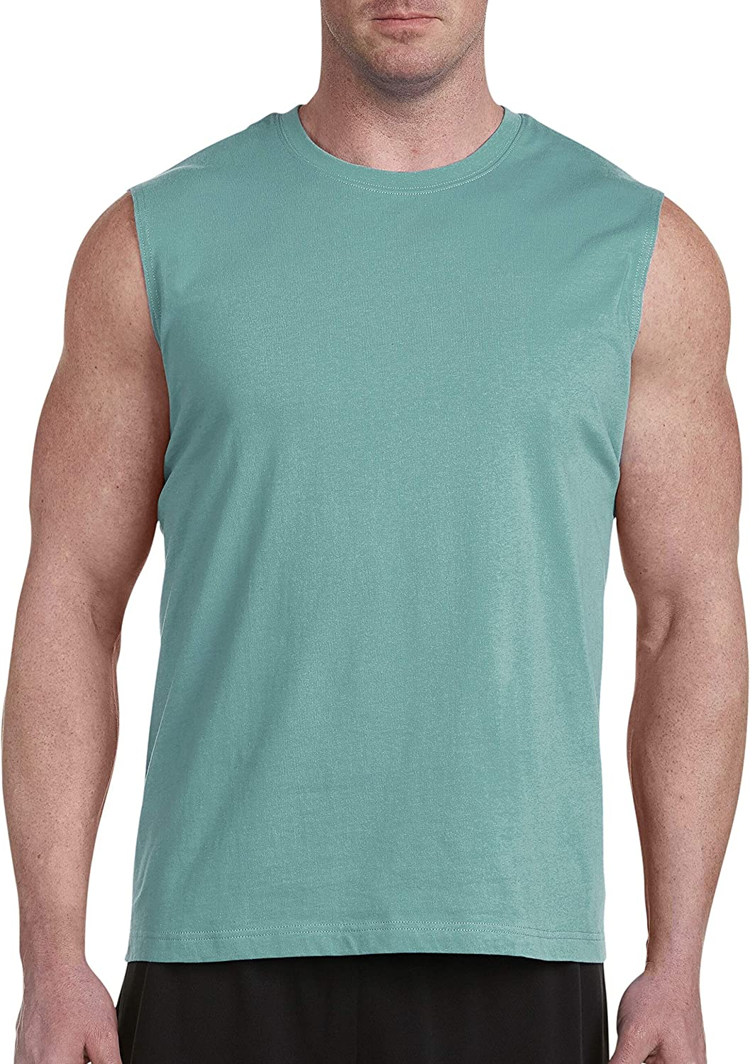 Harbor Bay by DXL Big and Tall Moisture-Wicking Muscle T-Shirt