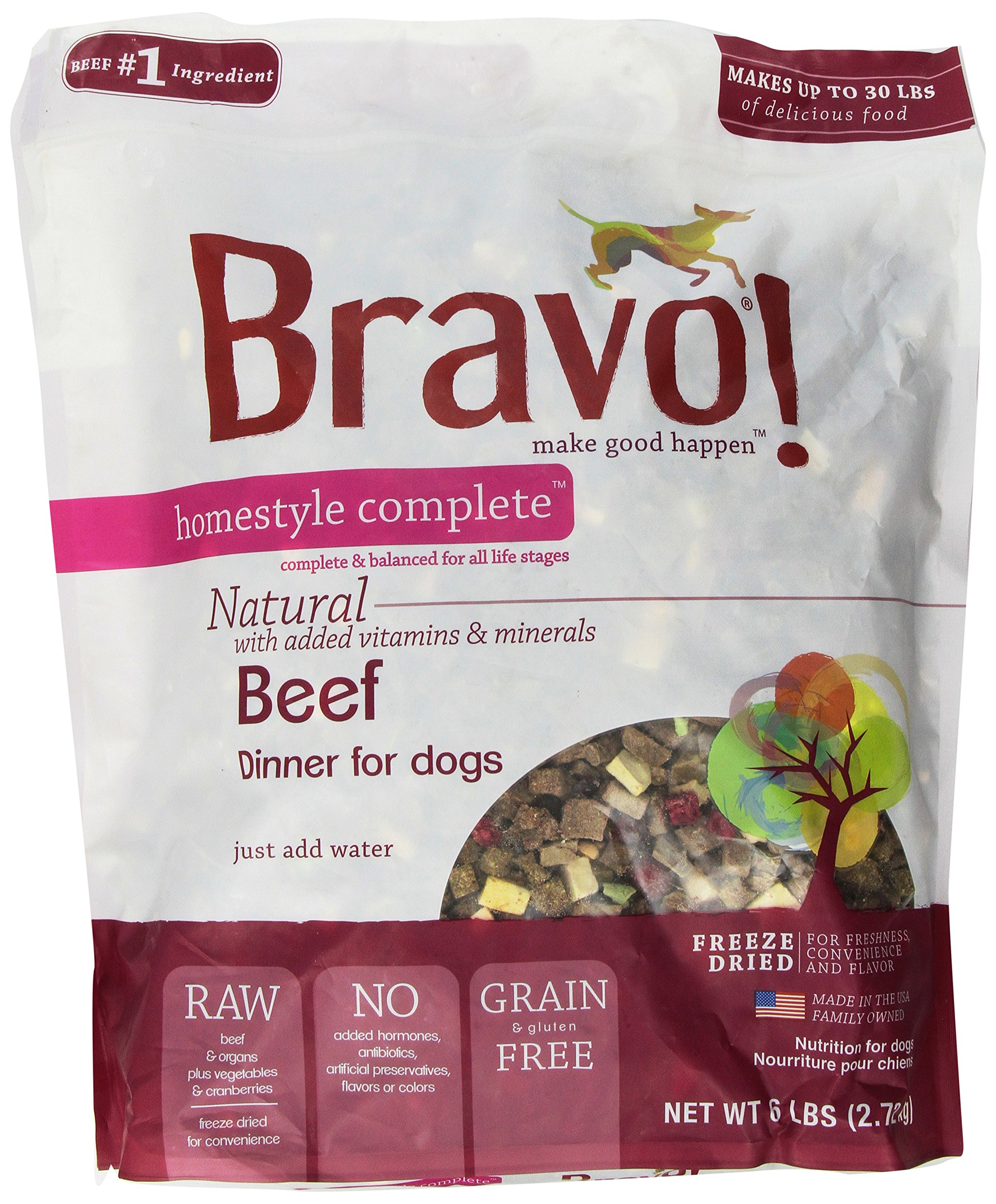 Bravo Homestyle Freeze Dried Dinner Beef Food, 6 lb.