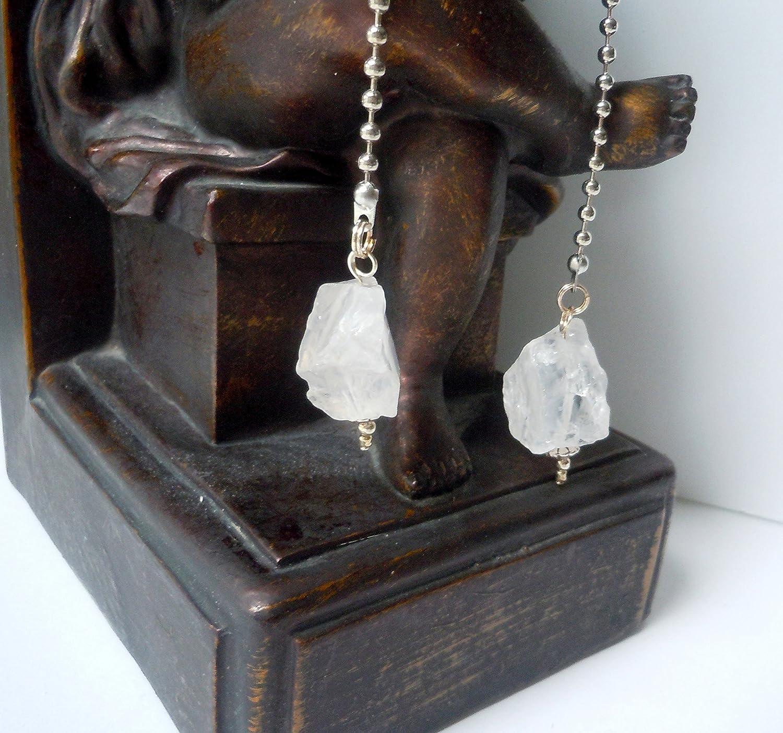 Rock Quartz Crystal Decorative Fan Pull Chain Ceiling Light Pull Yoga Reiki Chakra