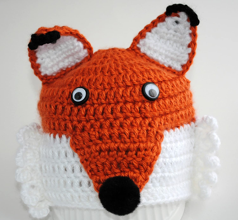 2aa5f957782 Amazon.com  Crochet Fox Hat