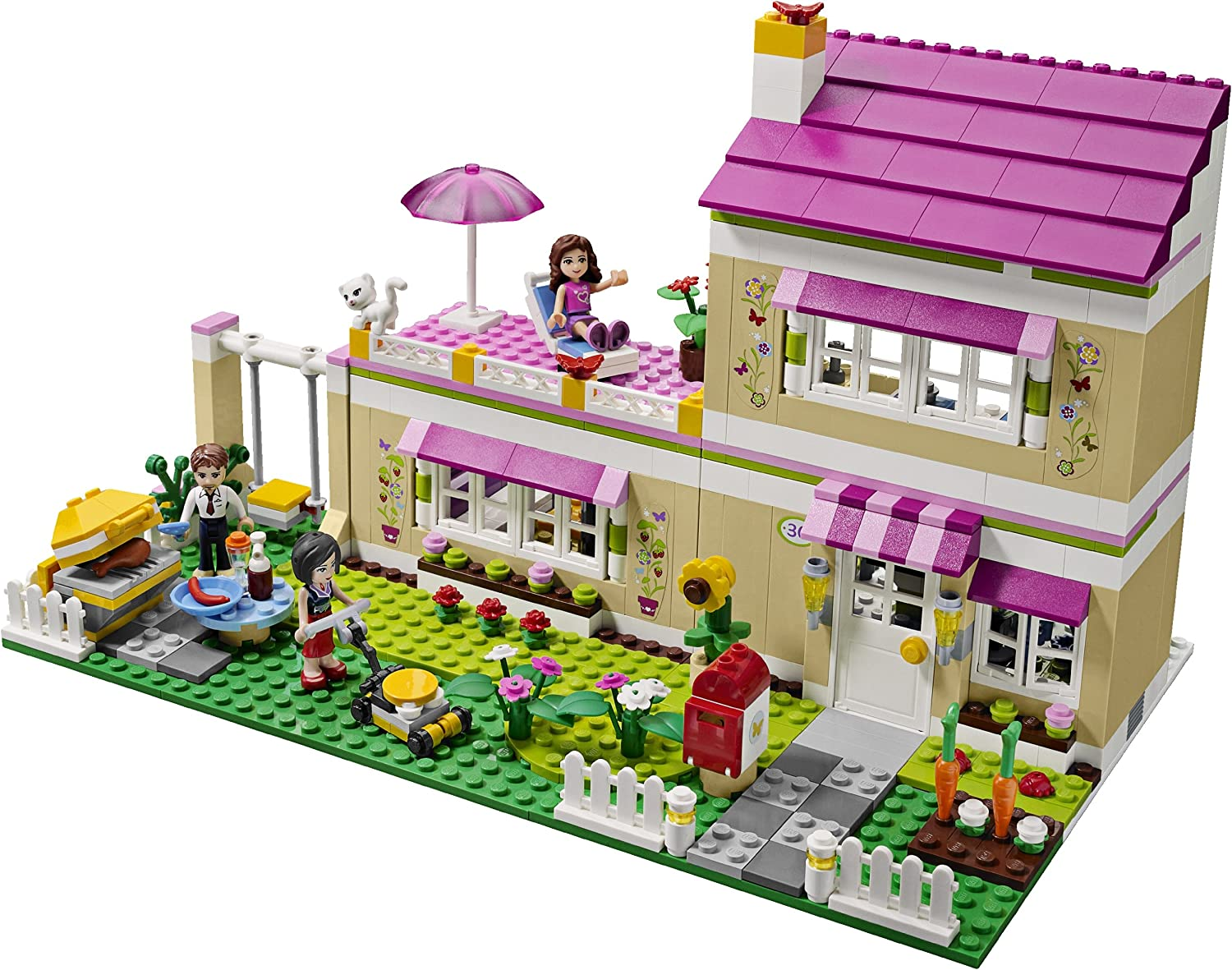 Lego Friends Girls Olivia S Play House W Three Mini Doll Figures 3315 Toys Games