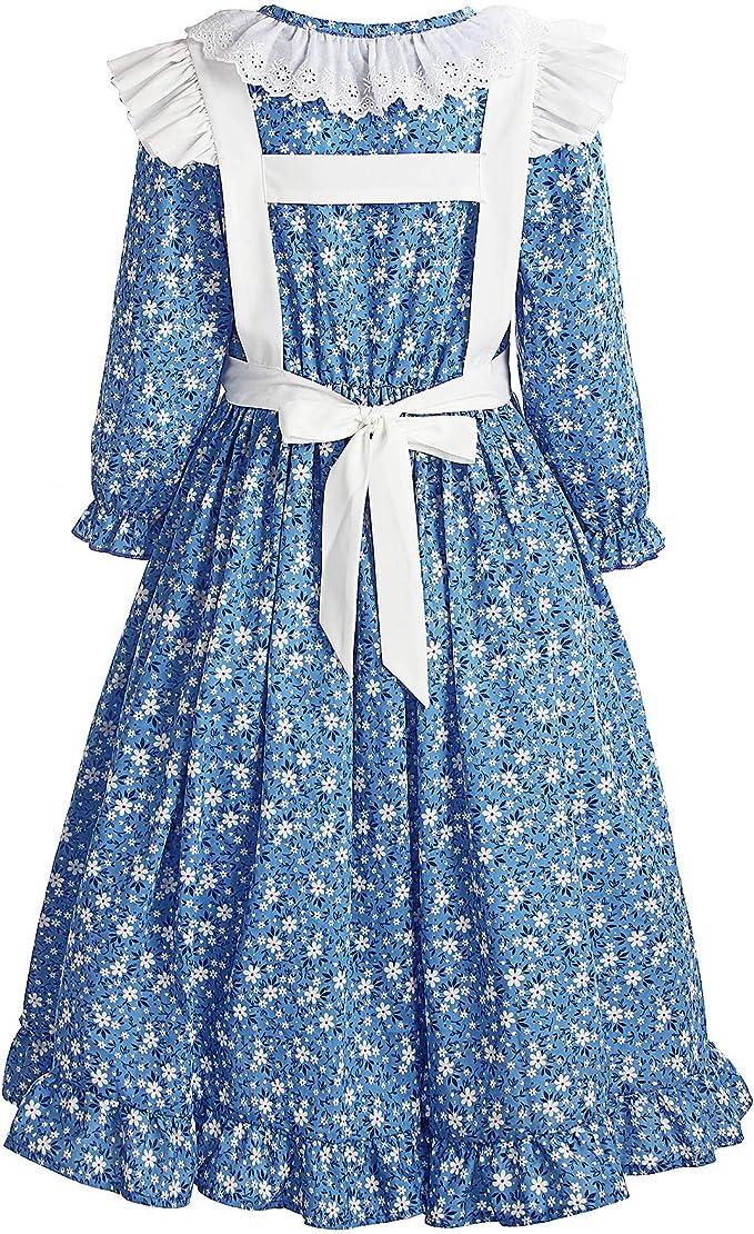2020 orders ONLY..Girls Pioneer Dress short sleeve Little House Prairie Costume Please read full details inside