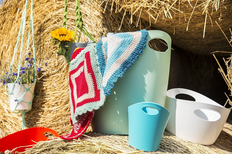 koziol BOTTICHELLI XL extra large Washtub Organiser Laundy Basket solid white