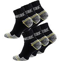 Cotton Prime 6 Paia calzini lavoro uomo rinforzati tallone e punta ideale per calzature Antinfortunistiche e/o scarponcini