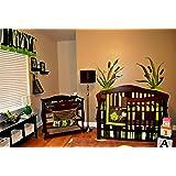 DK Leigh Nursery Crib Bedding Set, Frog, 7 Count, Green/Brown/Lime Green/White