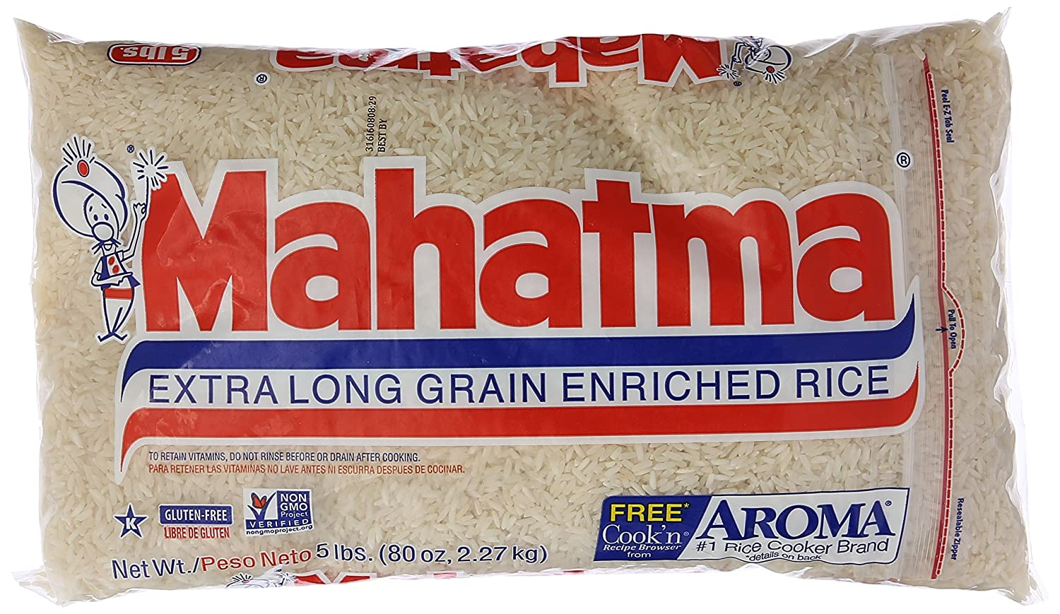 Rivianna Foods Mahatma Long Grain Rice, 5 lb
