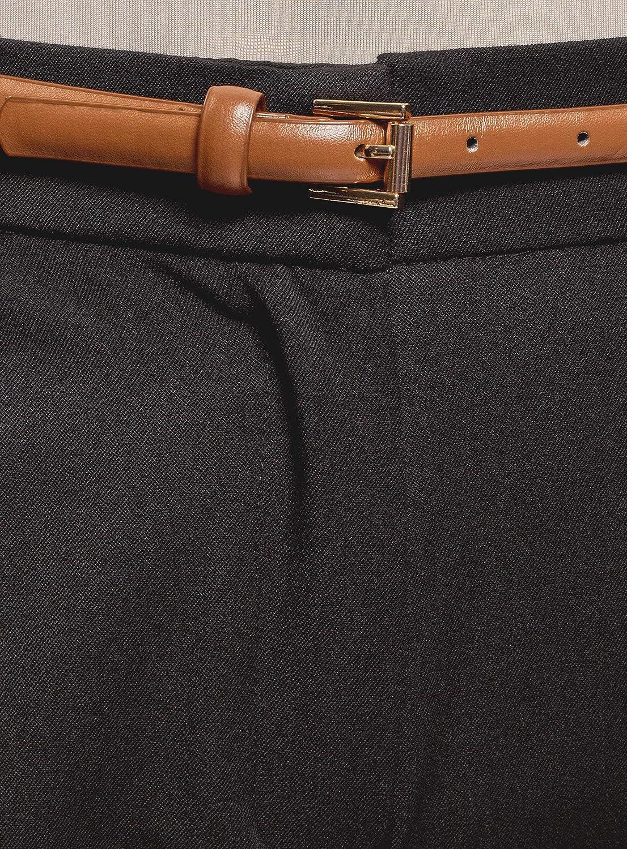 oodji Ultra Donna Pantaloni Slim Fit con Risvolti