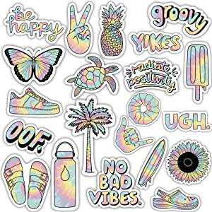 Big Moods Tie Dye Mini Pack Cool, Durable, and Waterproof Vinyl Stickers for Hydroflask, Laptop, Cooler, Tumbler, Teens, and Adults