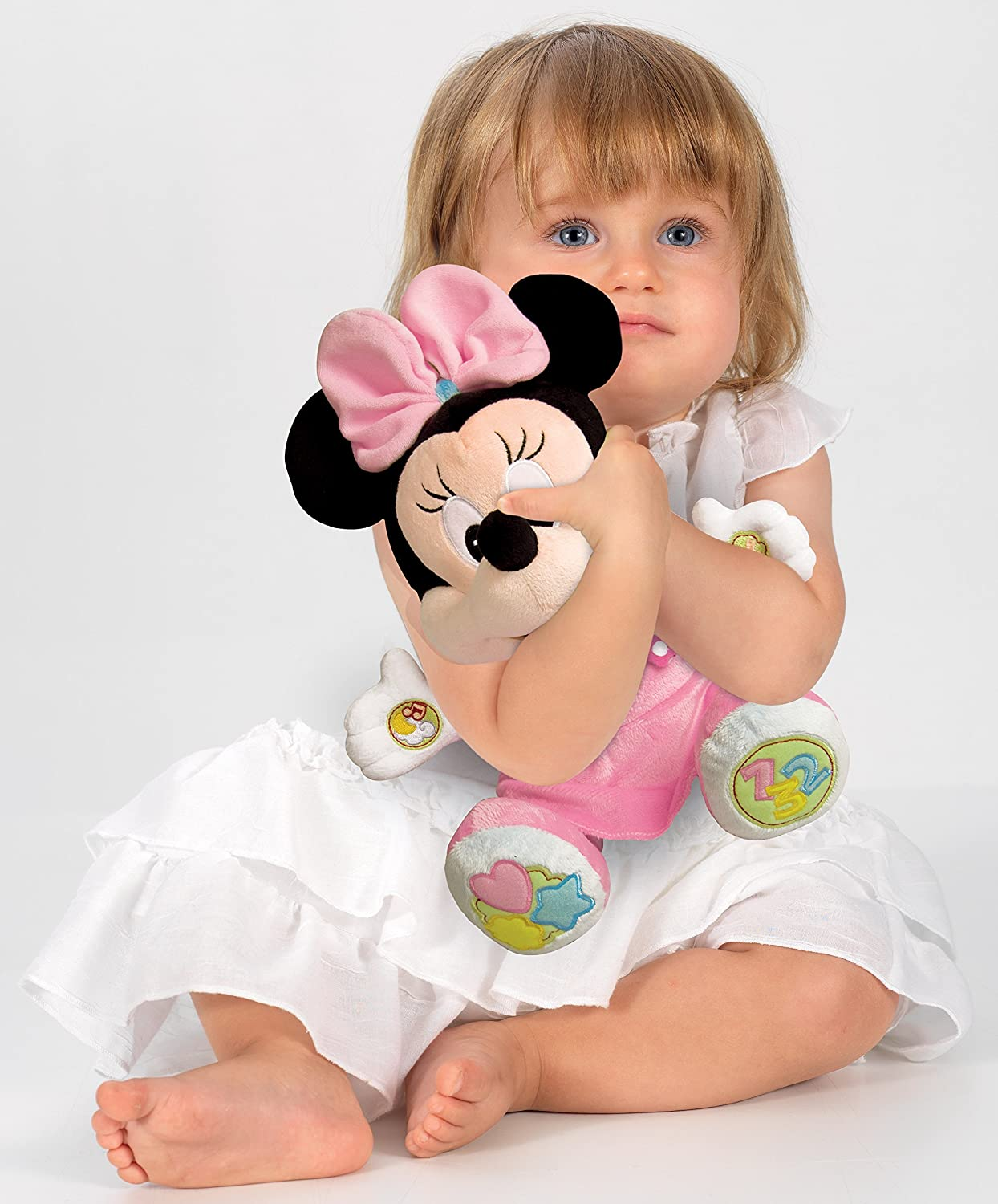 Amazon.com: GAMES & TOYS Juega y aprende con Baby Minnie, Peluche educativo: Home & Kitchen