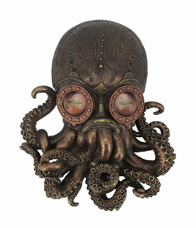 14 cm, 40 cm Color Bronce Nemesis Now Bioctopus Placa de Pared