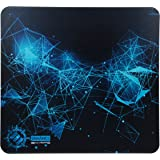 ENHANCE Large Hard Gaming Mouse Pad with - ABS Rigid Surface for Optimized Tracking , Non-Slip Rubber Grip , & Black and Blue Design - Professional eSports High Speed Tournament Pad