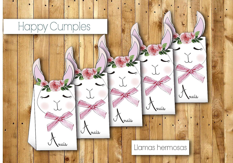 Cajas llamas cumpleaños con chuches / 12 unidades -: Amazon.es: Handmade