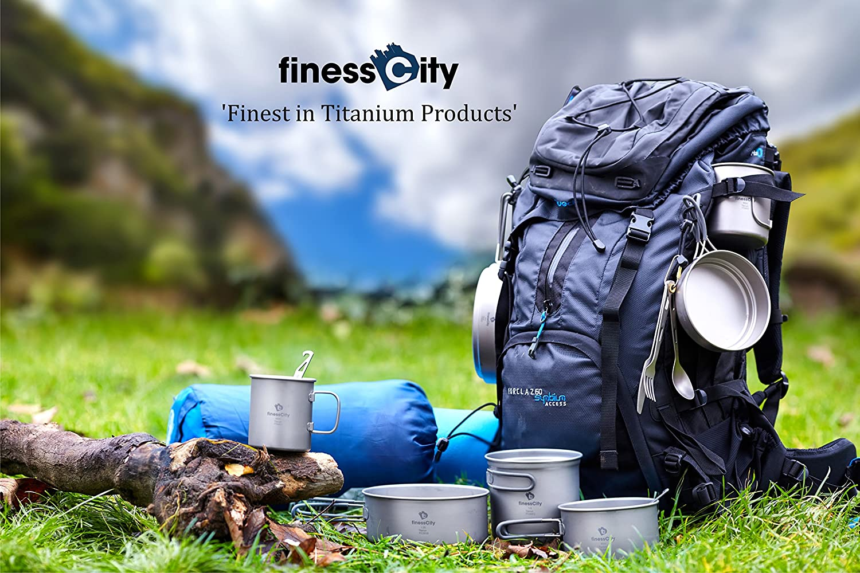 Titanium Spork facile da riporre panno di Ti forchetta e apribottiglie per viaggio//campeggio con apribottiglie extra Strong ultra leggero Healthy /& eco-friendly cucchiaio cucchiaio forchetta