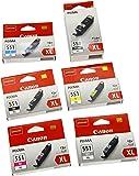 Canon High Yield PGI-550XL,CLI-551XL Ink Cartridges (Pack of 6)