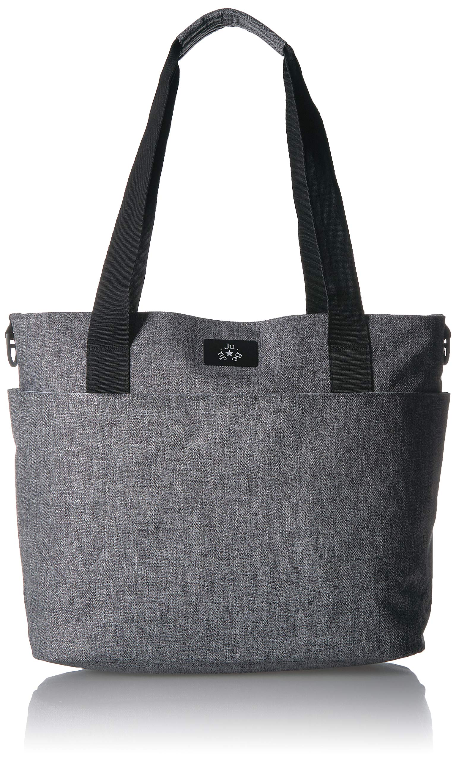 JuJuBe Encore Travel Diaper Tote Bag | Classic Collection | Lightweight, Everyday Diaper Bag for Travel | Graphite, One Size