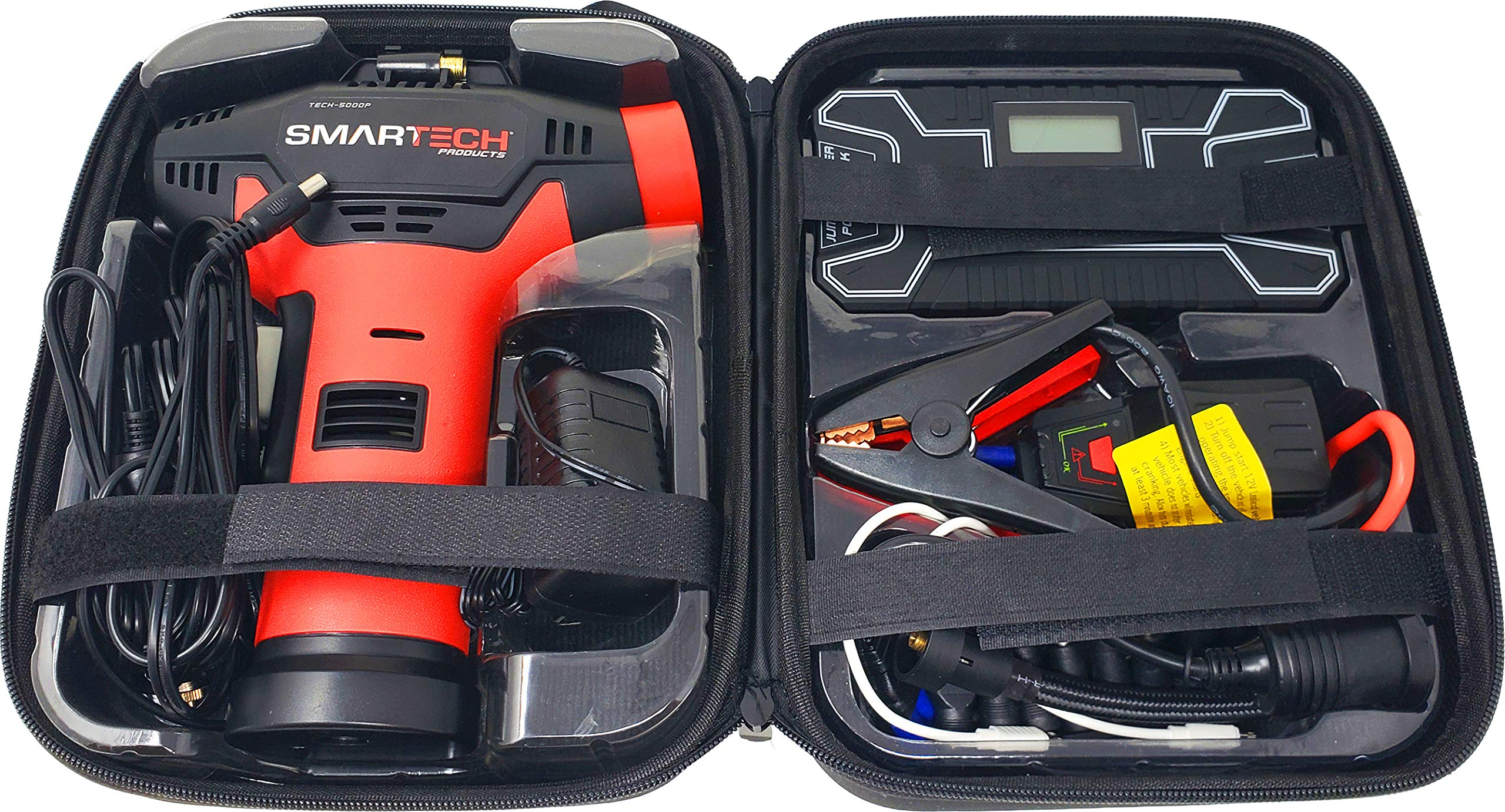 Smartech Power Kit Portable Jump Starter Power Bank Air Pump Tire inflator Air Compressor by Smartech Products (Image #8)