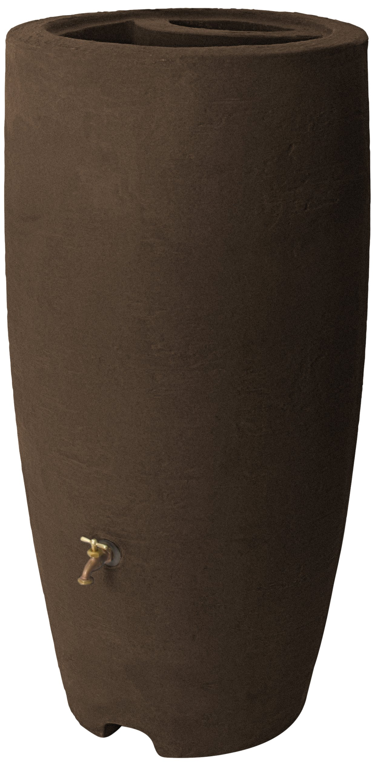 Algreen Products Athena Rain Barrel 80-Gallon, Brownstone