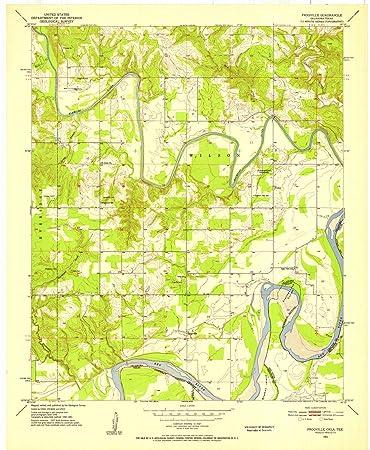 Amazon.com: Oklahoma Maps | 1951 Frogville, OK USGS Historical ...