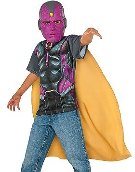Kit disfraz de Vision Capitán América Civil War para niño: Amazon ...