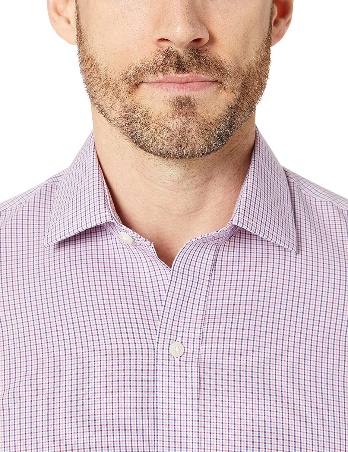 Marca Buttoned Down Xtra-Slim Fit Pattern Non-Iron Dress Shirt Hombre