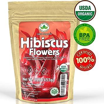 Amazoncom Hibiscus Tea 1lb 16oz 100 Certified Organic Hibiscus