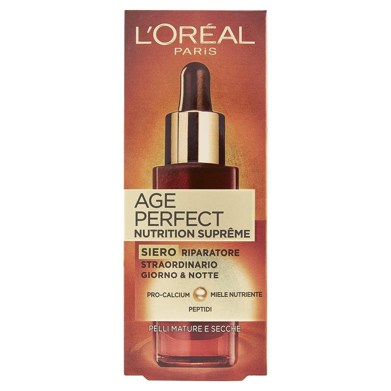 L'Oréal Paris Age Perfect Nutrition Supreme Siero Viso Antirughe Riparatore, Pelli Mature e Secche, 30 ml A6072251