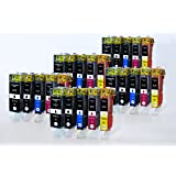 PGI-525 CLI-526 Printing Saver pack of 25 compatible ink cartridges for CANON Pixma IP4800, IP4820, IP4840, IP4850, IP4870, IP4950, MG5120, MG5140, MG5150, MG5170, MG5220, MG5240, MG5250, MG5270, MG61