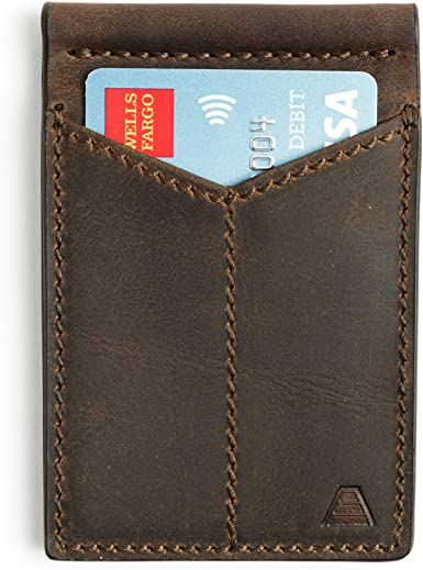 RFID Protected Andar Leather Money Clip Wallet Made of Full Grain Leather