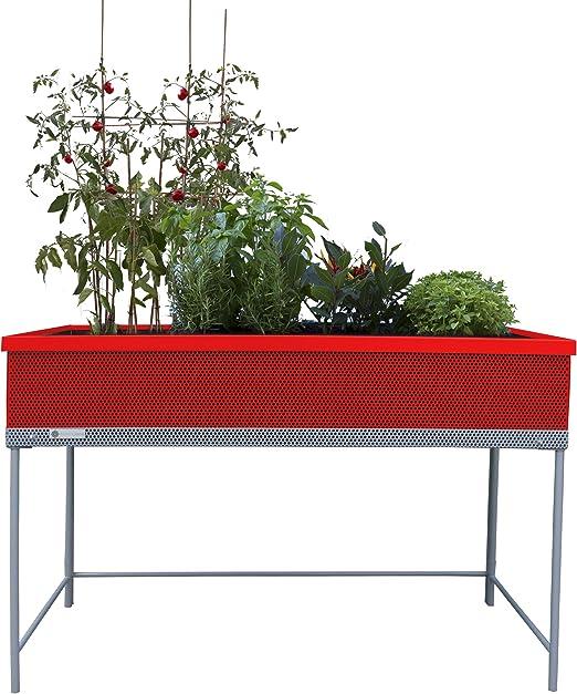 Huerto urbano de metal Green Passion 122x57x80 cm.Color rojo ...