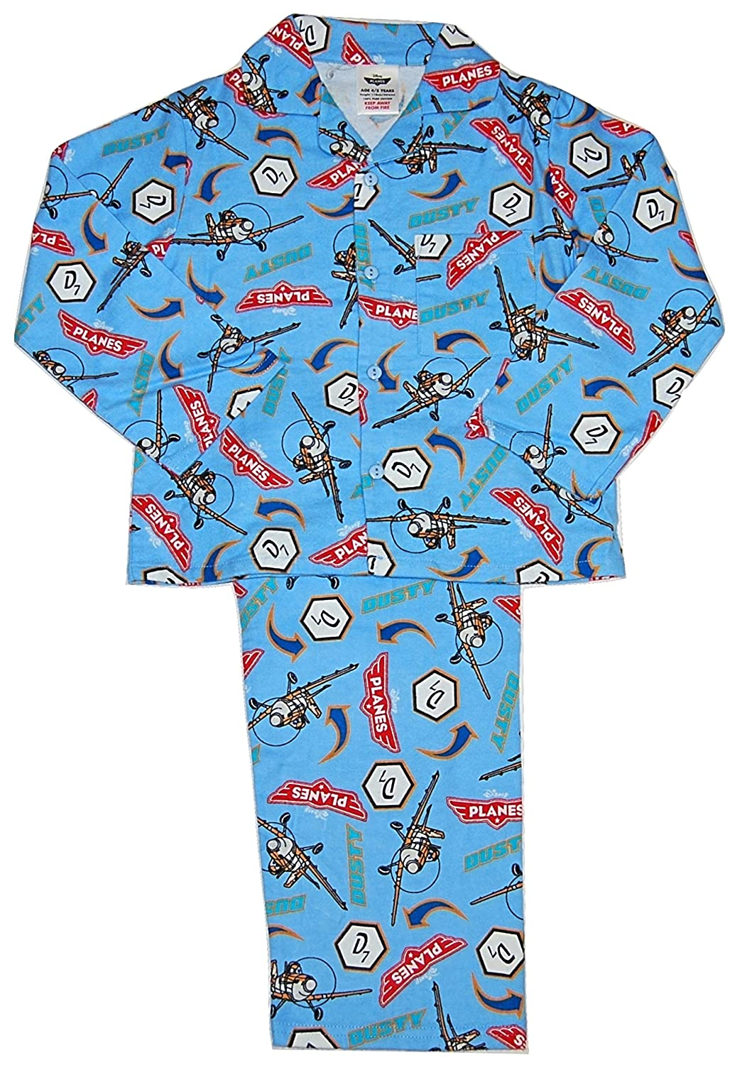 BOYS DUSTY PLANES COTTON ALL IN ONE SIZES 4//5-5//6-6//7 YEARS  Cotton