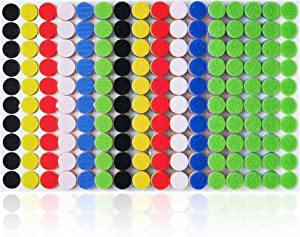 "Miracle Market 600 Pcs (300 Pairs) of Colorful Hook and Loop Self Adhesive Fastener Dots | Sticky Back ¾"" (20 mm) Diameter Heavy Duty Circles 