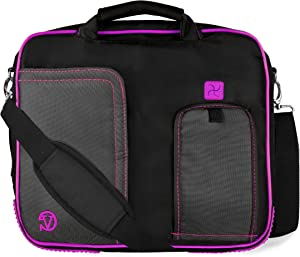 Vangoddy Purple Laptop Briefcase Messenger Shoulder Travel, Business, School Bag for Acer 10 inch 13 inch Laptops