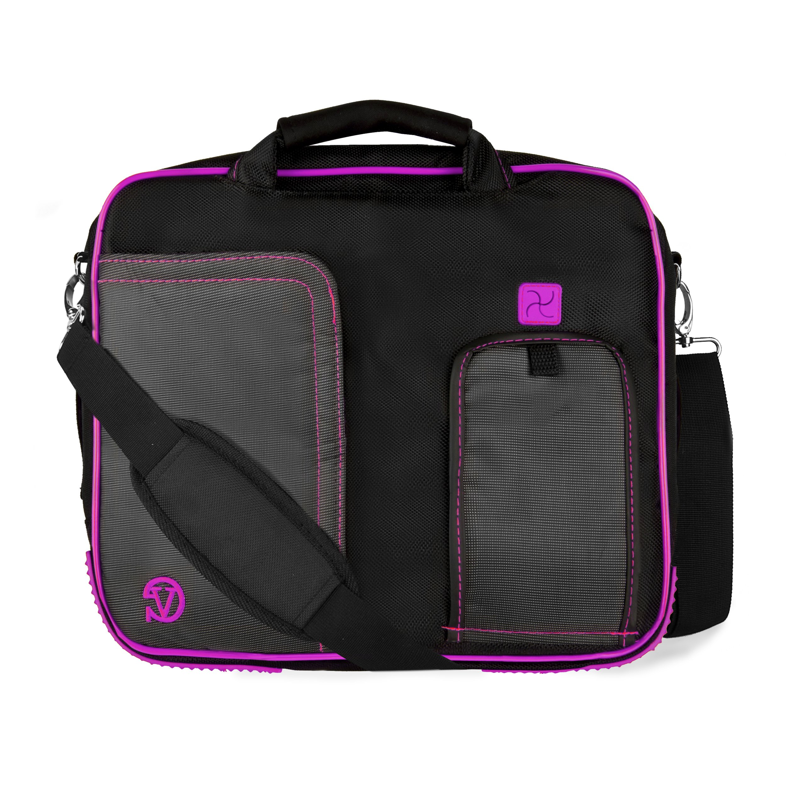 Purple Business/College/School Messenger Bag/Briefcase for 10'' - 13'' Toshiba Laptops