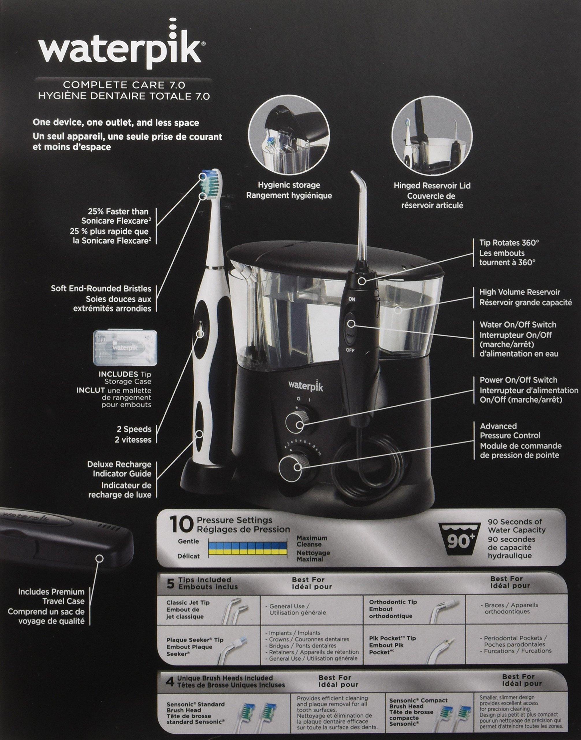 Waterpik WP-952 Complete Care 7.0 Water Flosser and Sonic Tooth Brush, Black by Waterpik (Image #21)