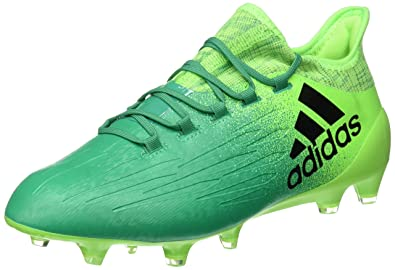innovative design de031 8f4d7 adidas X 16.1 FG, Bota de fútbol, Solar Green-Core Black  Amazon.es   Deportes y aire libre