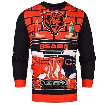 Amazoncom Chicago Bears Ugly 3d Sweater Mens Medium Sports