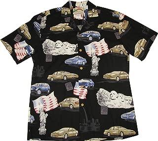 product image for Saturn Men's Hawaiian Aloha Rayon Shirt