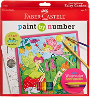Faber Castell Young Artist Paint By Number Kit Fairy Garden Kids Watercolor Art