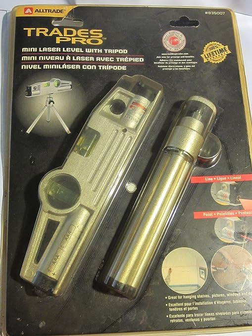 Amazon.com: Alltrade Trades Pro Mini Laser Level with Tripod: Home Improvement
