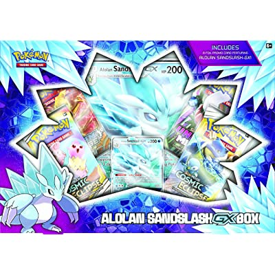 Pokemon TCG: Alolan Sandslash-GX Box | 4 Booster Packs | 1 Foil Promo Card | 1 Oversize Foil Card, Multicolor: Toys & Games