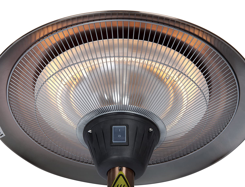 Fire Sense Frisco Brushed Copper Colored Halogen Patio Heater