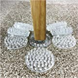 8 x LARGE CLEAR Carpet//Floor Protectors CASTOR CUPS Chair//Sofa Furniture Caster