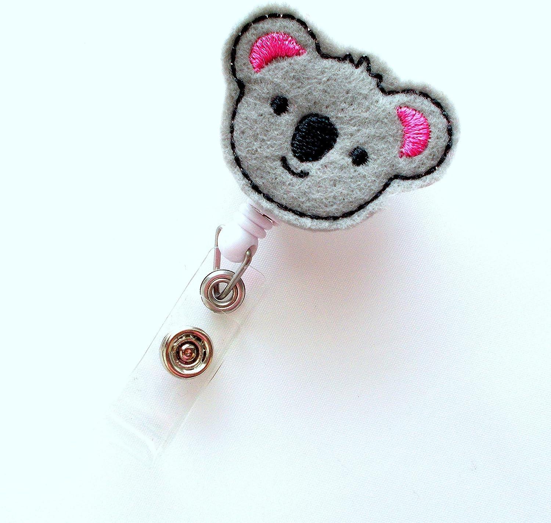 Pediatric Badge Reel Baby Koala Retractable ID Badge Reel Nurse ...
