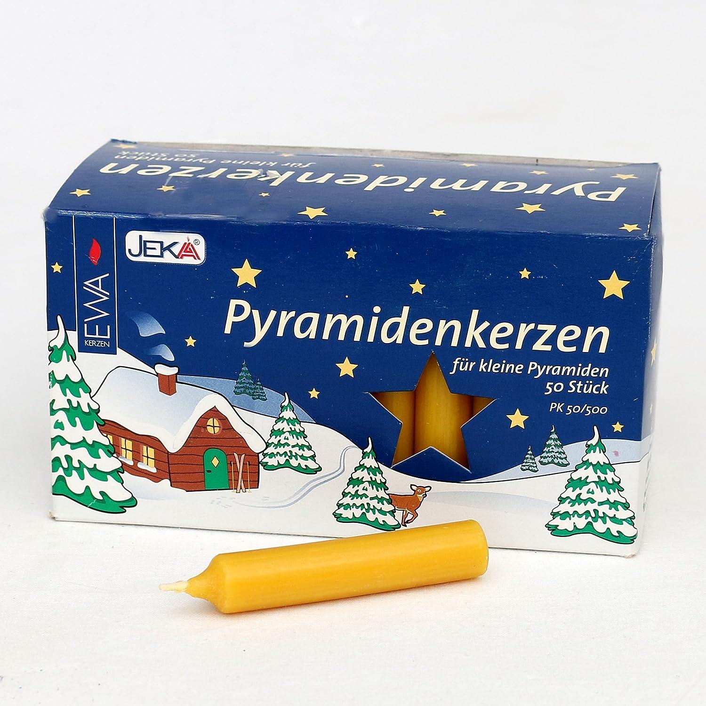 """Candele """"a piramide"""" (possono essere disposte a forma piramidale), 1,4x 7,4cm., naturale, 50 pezzi Dekohelden24"""